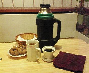 地元の茶芸館