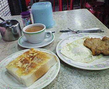 街市で早餐