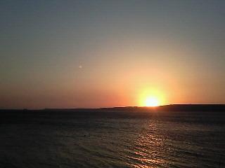 ダーダネルス海峡の夕日
