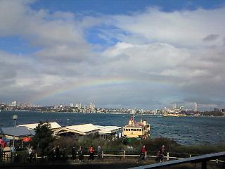 虹が見えますか